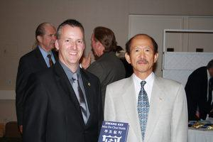 Kwan Jang Nim H.C. Hwang and Ray Sargeant Sa Bom Nim